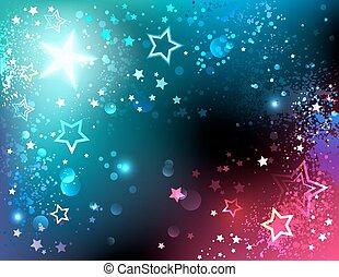 clair, fond, étoiles