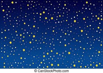 clair, fond, étoiles, conception