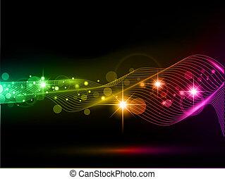 clair, fond, multicolore, lumières, étoiles