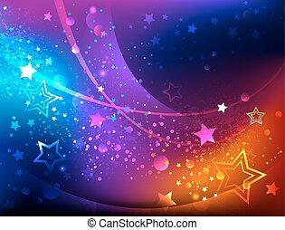 clair, fond, résumé, étoiles
