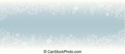 clair, frontière, hiver, fond, neigeux