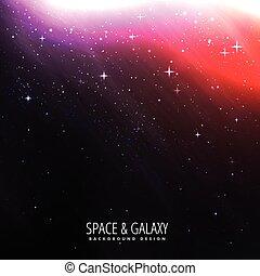 clair, lumière étoiles, fond, espace