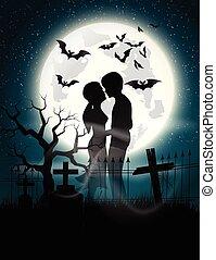 clair lune, amants, âme