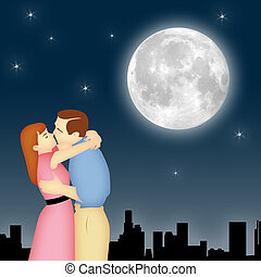clair lune, couple