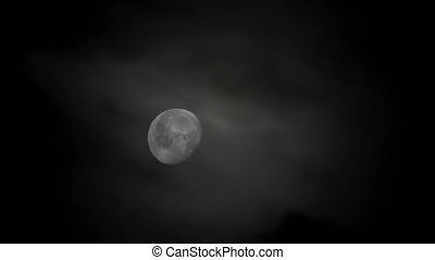 clair lune, -, hd, nuit