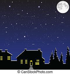 clair lune, village