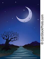 clair lune, vue