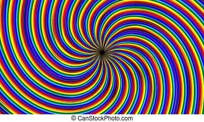 clair, optique, psychédélique, coloré, arrière-plan., wallpaper., résumé, animé, illusion., arc-en-ciel, spectre, faire boucle, hypnotique