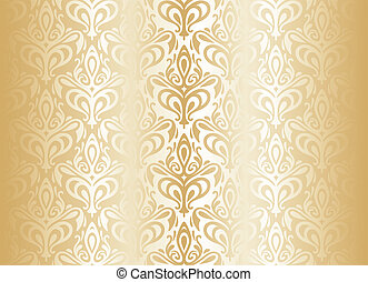 clair, papier peint, luxe, or