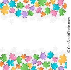 clair, puzzle, fond