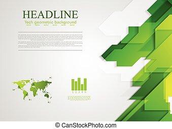 clair, résumé, vert, high-tech, fond