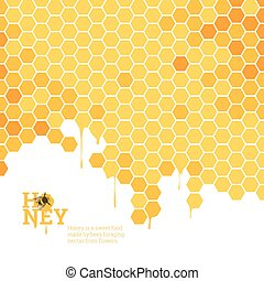 clair, rayons miel, fond
