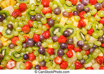 clair, salade fruits, fond