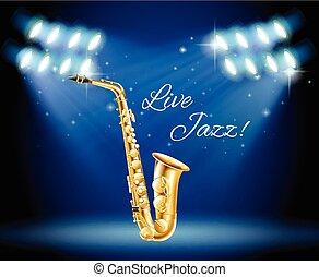 clair, saxophone, étape