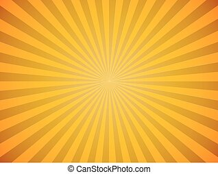 clair, soleil jaune, éclater, horizontal, vecteur,...