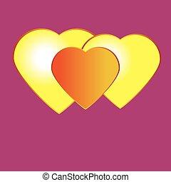 clair, valentin,  s, fond, jour