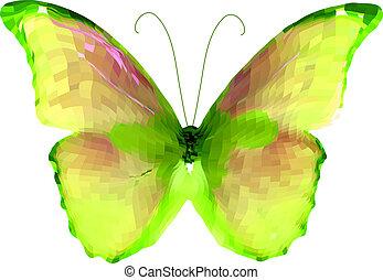 clair, vecteur, butterfly.