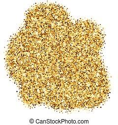 clair, vecteur, scintillement, or