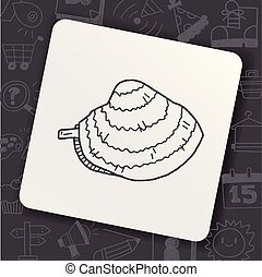 clam doodle