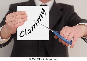 Clammy, determined man healing bad emotions - Clammy, man in...