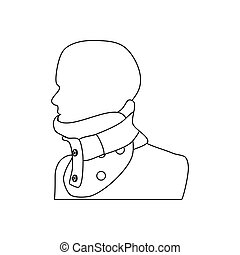 Clamp for the neck on the white background. Vector...
