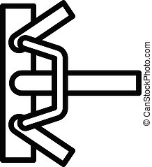 Clamp scaffolding icon, outline style