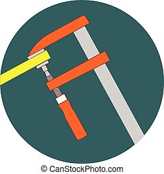 Clamp, tool, work icon