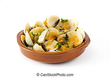 Clams with marinera sauce. Almejas a la marinera. Spanish ...