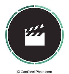 clap board computer symbol