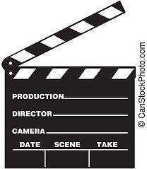 Clap Board - Illustration of film clap board