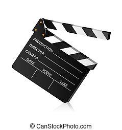 Clap board - Vector illustration of a film clap board