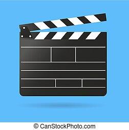 Clap movie board vector clapper