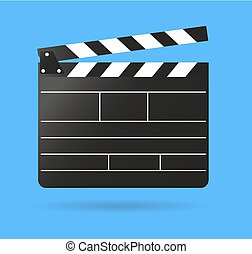 Clap movie board vector clapper