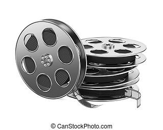 Clapboard and Film Reel with Film. - Clapboard and Film...