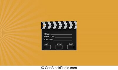 Clapboard appears HD animation - Clapboard appears from up...