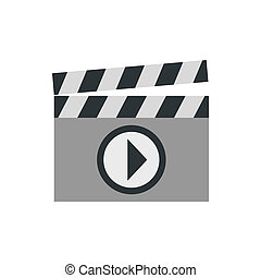 Clapboard icon, flat style