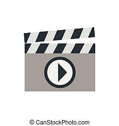 Clapboard icon, flat style