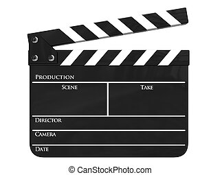 Clapboard isolated - Clapboard (clapperboard) isolated
