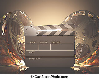 Clapboard Light - Clapboard with back light. Your name, time...