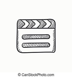 Clapboard sketch icon.