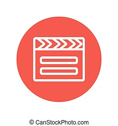 Clapboard thin line icon