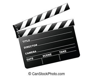 Clapboard - Vector illustration of a clapboard as used by ...