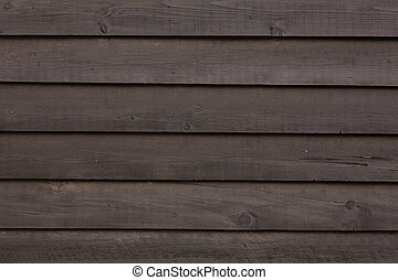 Clapboard wooden texture - Close up of dark brown wooden...