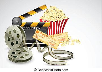 Clapper Baord with Film Reel