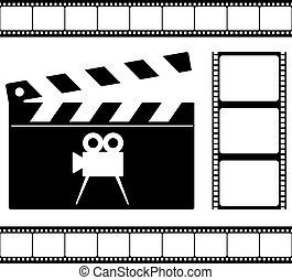 clapper board and film