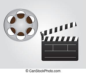 clapper board and video film