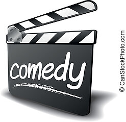 clapper board comedy - detailed illustration of a clapper...