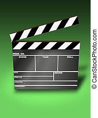 Clapper Board (3D image)