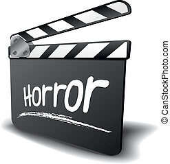 clapper board horror - detailed illustration of a clapper...