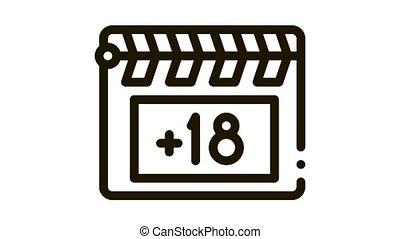 Clapper Board Icon Animation